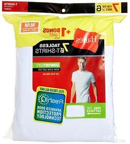 Hanes Men's ComfortSoft Crew T-Shirts 7-Pack White 2135P5 S