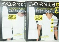 Body Glove Crew Neck or V-Neck T-Shirt White 3 Pack Modal St