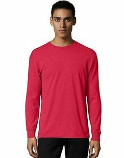 Hanes Crewneck Long Sleeve T-Shirt X-Temp Men's Soft Wicking