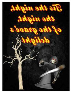 Custom Made T Shirt Halloween Tis Night Graves Delight Grim