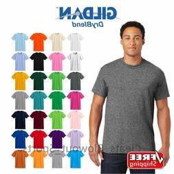 Gildan Dry Blend T-Shirt Blank Solid Mens Short Sleeve 50/50