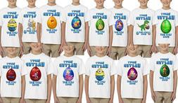 Easter Bunny Egg T-Shirts for Kid's boy Clothing Children Ea