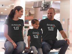 Elf Family T Shirts Matching Mom Dad Daughter Son Christmas