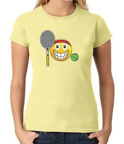 Emoji Playing Tennis JUNIOR'S T-shirt Gift for Sport player