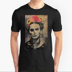 Frida black T-shirts 100% cotton Size M-3XL Men's Women's Cl