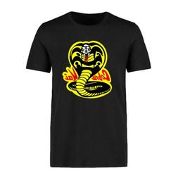 Funny Cobra Kai Pendant Printed Men's T-shirts Cotton Short
