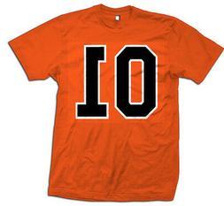 General Lee 01 Men's Orange T-Shirt Retro Funny Dukes Hazzar