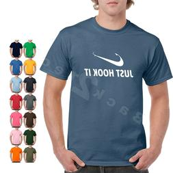 gift fishing  t-shirt,Just Hook It ADULT funny T-shirt,Meme