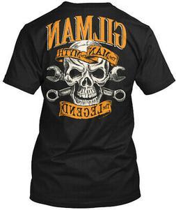 Gilman The Man Myth Legend Hanes Tagless Tee T-Shirt