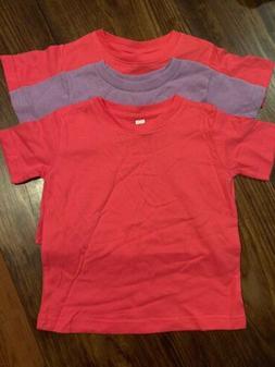 Girls Blank T-shirts Size 2T