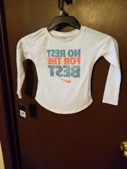 """Girls Nike """"No rest for the best"""" long sleeve shirt size 3t"""
