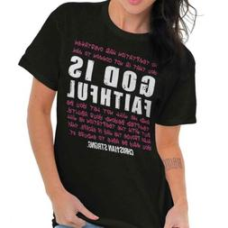 God Is Faithful Christian Religious Jesus T-Shirts T Shirts