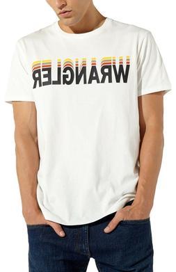 Wrangler Graphic Brand Logo T-shirt Men Crew Neck Print Cott