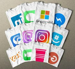 Halloween T-Shirts, All Social Media and Apps Logos. You Nam