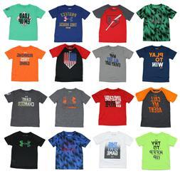 Under Armour Heatgear Boys T-Shirts - Size 3T 4T 4 5 6 7 - N