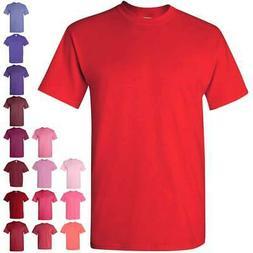Gildan Heavy Cotton Short Sleeve Mens Red/Pink/Purple T Shir