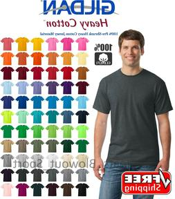 Gildan Heavy Cotton T-Shirts 5.3oz Blank Solid Mens Short Sl