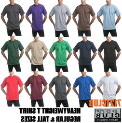 heavyweight t shirts plain proclub short sleeve