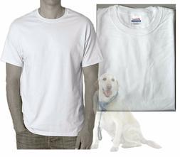Hanes Heavyweight White T-shirts Men Medium Qty-5