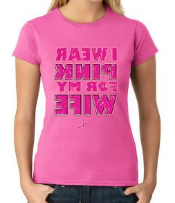 I wear pink for my Wife JUNIOR'S T-shirt Cancer Awareness GI