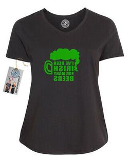 Ive Been Irish for Many Beers  Plus Size Womens VNeck Shirt