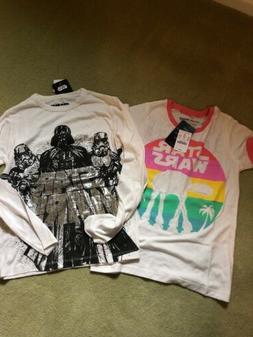 JCrew Crewcuts Boys Star Wars T-Shirts Lot Of 2 Size 10