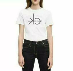 Calvin Klein Jeans Women's Cotton Big Logo Graphic T-Shirt W