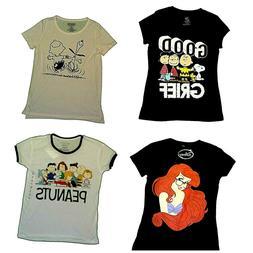 Juniors' T-Shirts  Disney Ariel Mermaid  Peanuts Snoopy Char