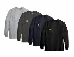 k126 mens workwear jersey pocket long sleeve
