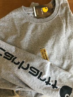 Carhartt K231 GRAY Graphic L/S T-Shirt B3GO Free & Free S/H