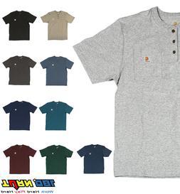 Carhartt K84 Men's Henley Pocket T shirt Heavyweight Jersey