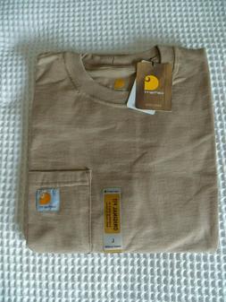 CARHARTT K87 Workwear Original Fit Short Sleeve T-Shirt Khak