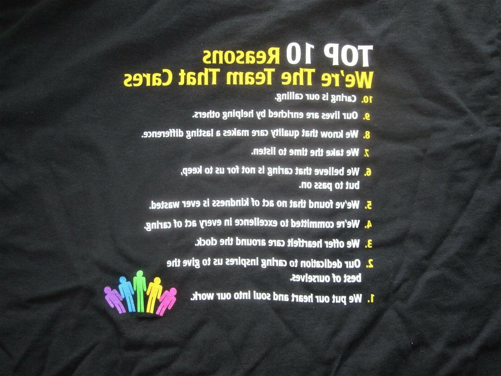 """T-Shirts """" Takes Provide Care"""" Size M Black"""