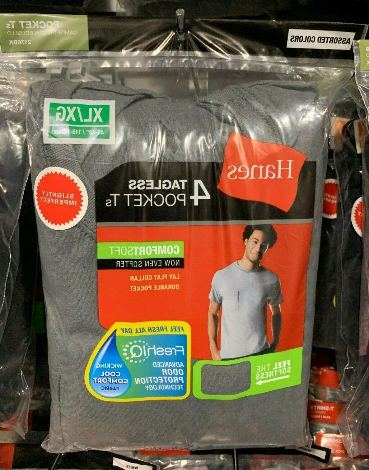 4 Pack Hanes Pocket S your Size Color