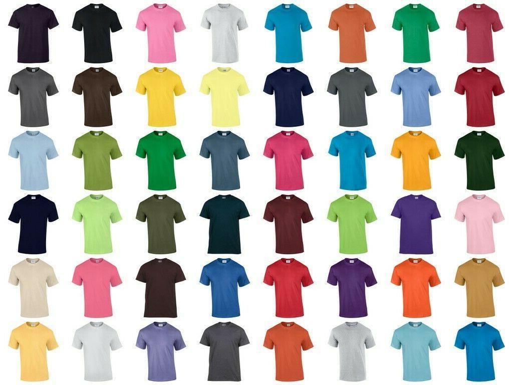 GILDAN Short Mix T Plain Shirts Tee Assorted Mix