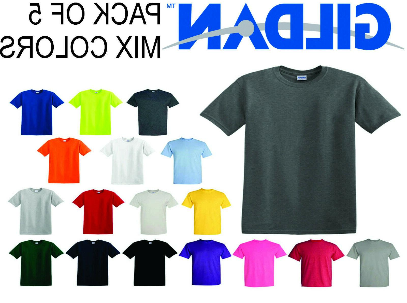 5 pack short sleeve mix colors t