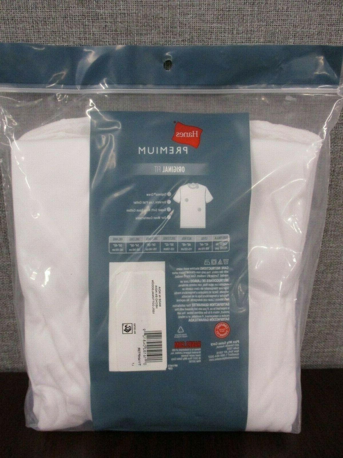 Hanes Men's Pack Neck Tagless Shirt W/Fresh IQ LT