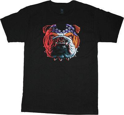 big and tall t shirt biker bulldog