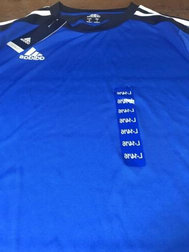 Boys Adidas Black and Athletic T-shirt Large