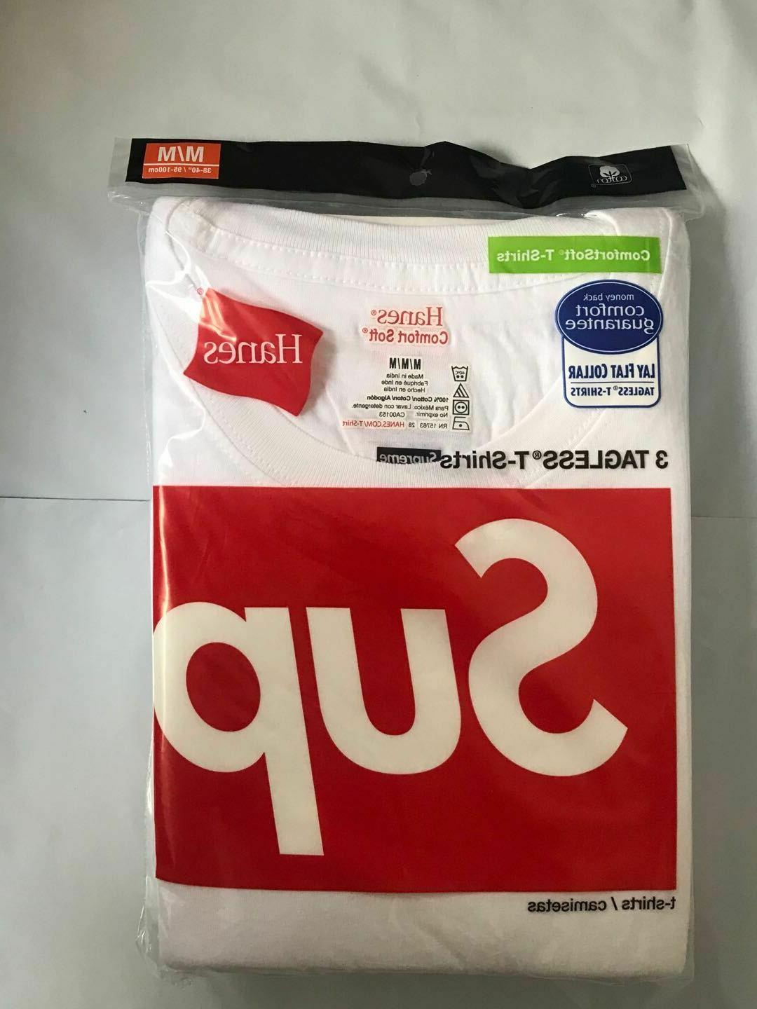 Supreme BLACK and WHITE Tee Authentic