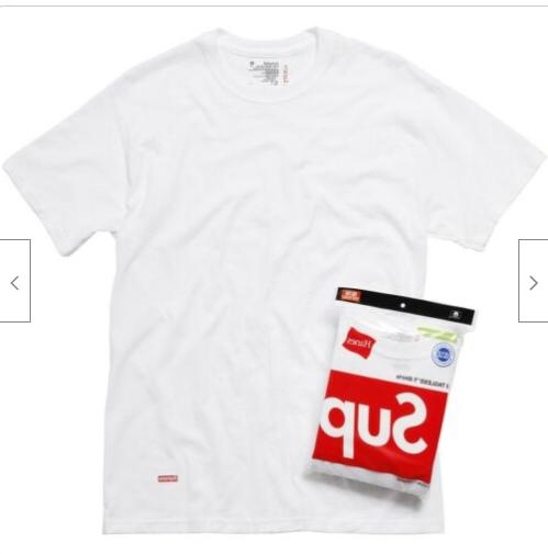 Supreme Hanes Tagless and WHITE ---100% Authentic