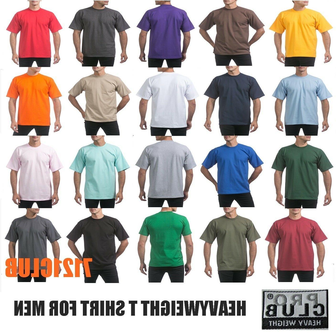 heavyweight t shirts proclub plain tee mens