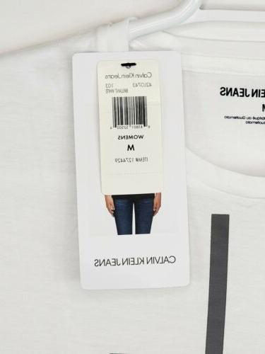Calvin Cotton Big Graphic T-Shirt Size M