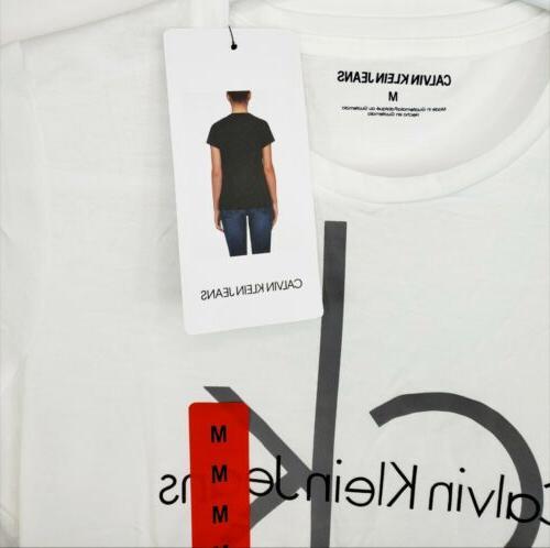 Calvin Jeans Women's Cotton Graphic T-Shirt M