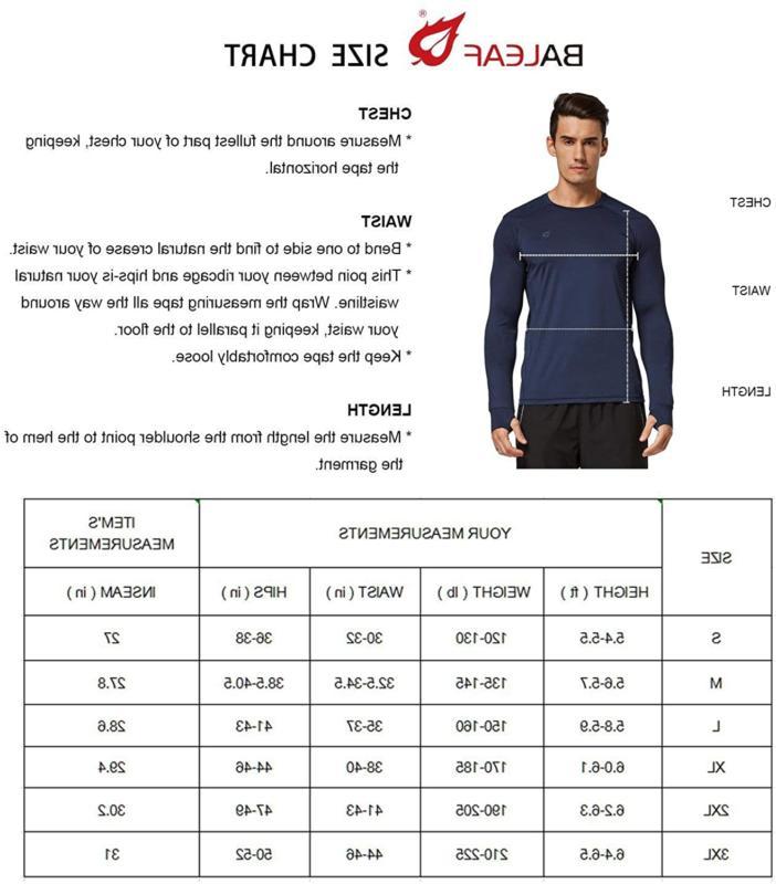 BALEAF Sleeve Shirts Thumbholes