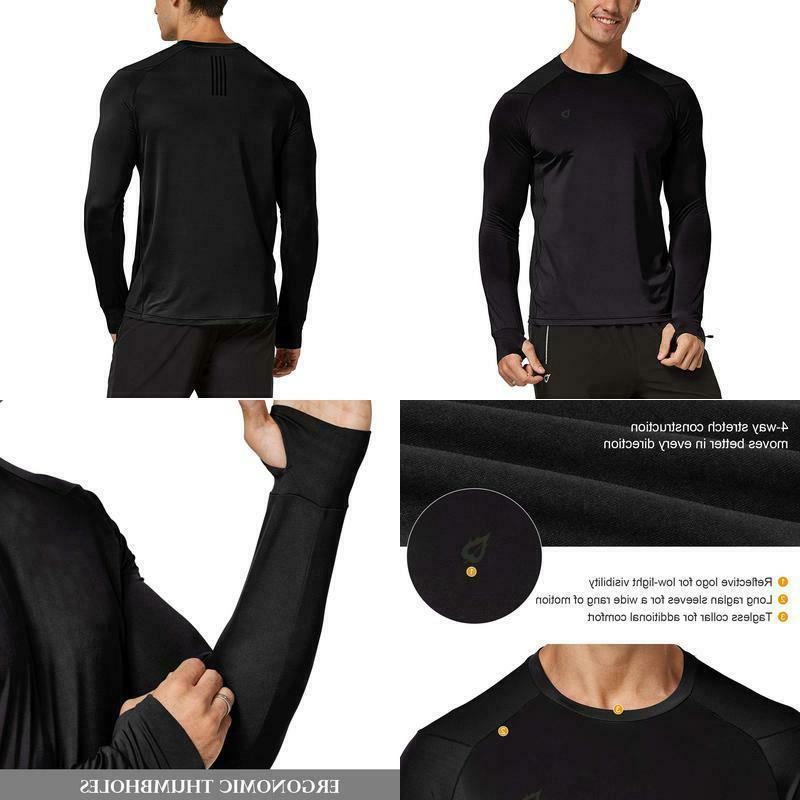 men s athletic long sleeve running shirts
