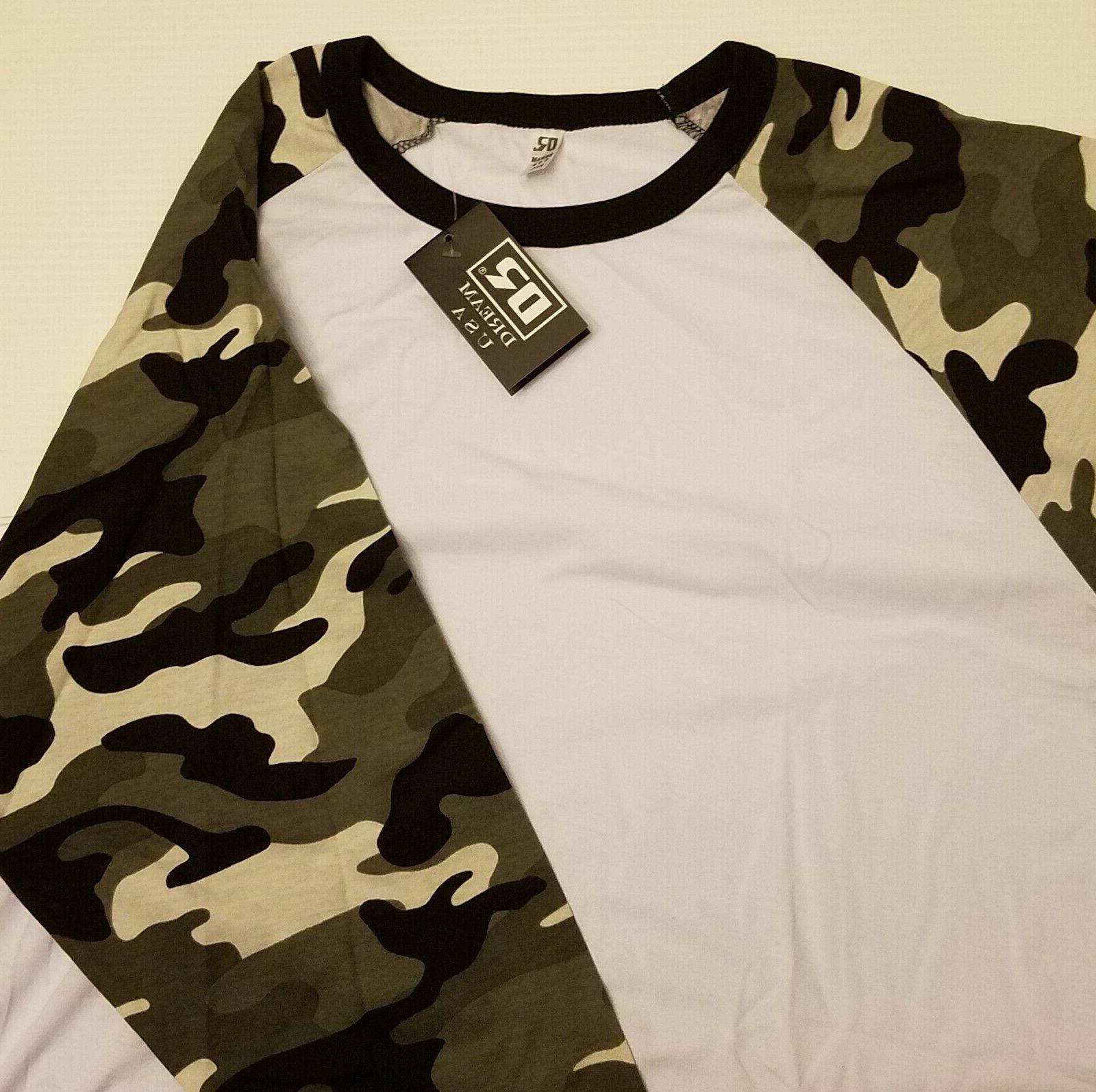 Men's USA T-Shirt 3/4 CAMO