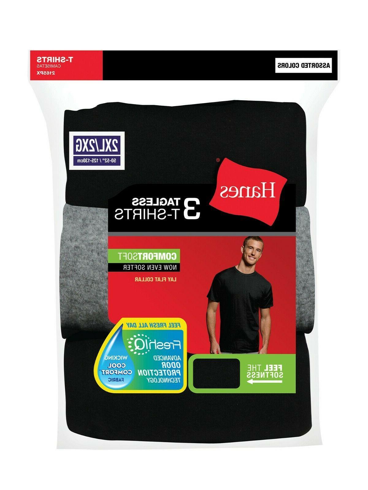 Hanes Men's Tall ComfortSoft T-Shirts, 3 NWT