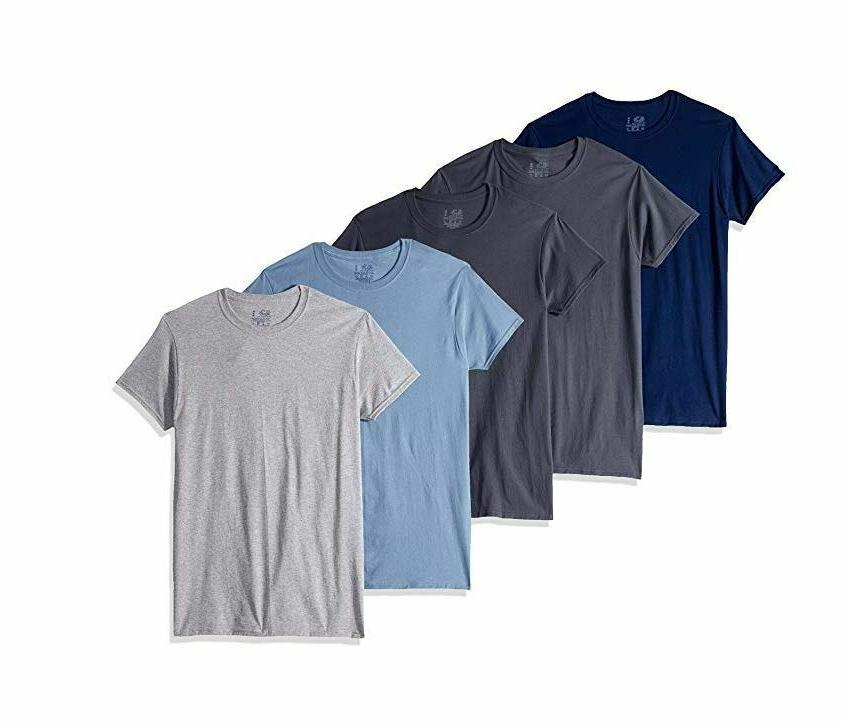 Fruit of the Loom Men's Crew Neck T-Shirt Multipack, Assorte