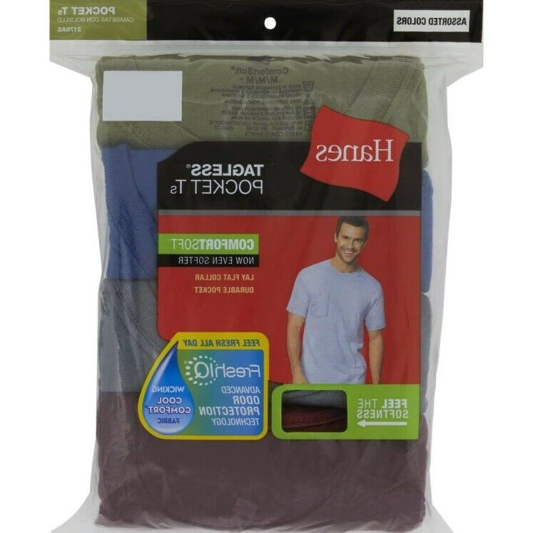 Hanes FreshIQ® Dyed Assorted T-Shirt 4-Pack
